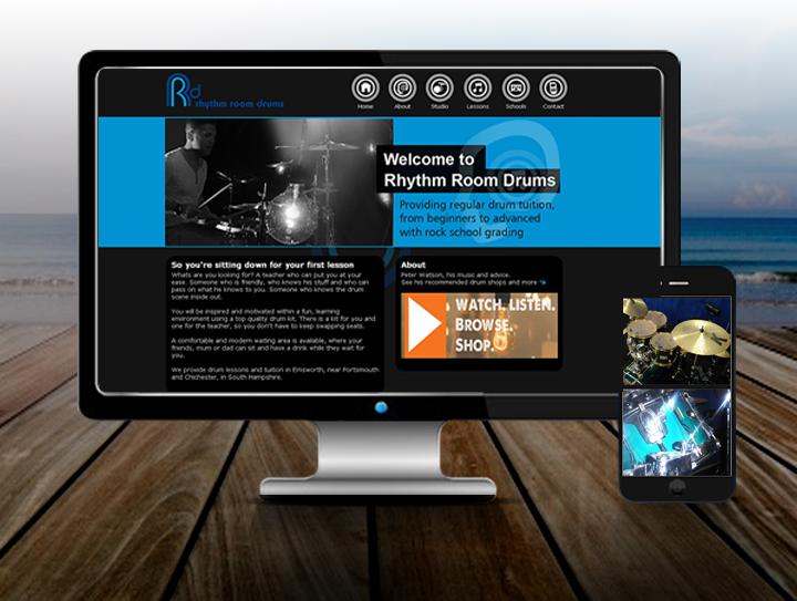 Drums Tuition Website